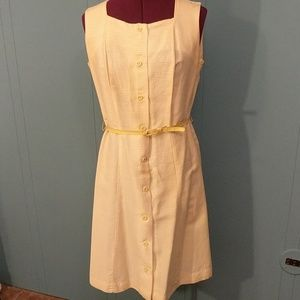 Vintage yellow striped dress